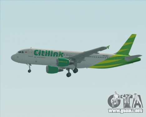 Airbus A320-200 Citilink para la vista superior GTA San Andreas