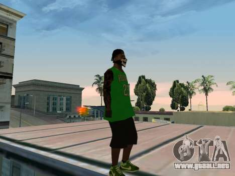 Fam3 Skin para GTA San Andreas sucesivamente de pantalla