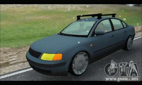 VW Passat para GTA San Andreas vista hacia atrás
