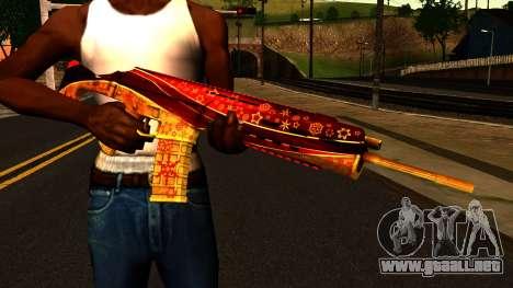 La Víspera de Año nuevo Rifle de Asalto para GTA San Andreas tercera pantalla
