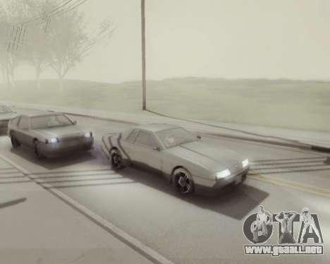 Gráfico Mod v5.0 для GTA San Andreas para GTA San Andreas quinta pantalla
