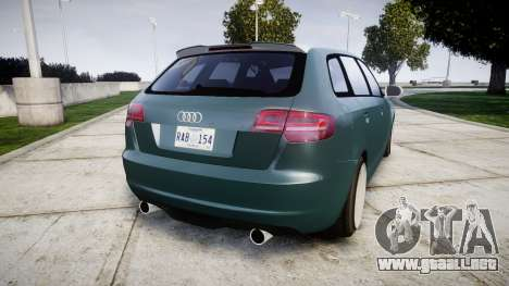 Audi RS3 Stanced para GTA 4 Vista posterior izquierda