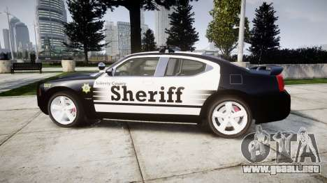 Dodge Charger SRT8 2010 Sheriff [ELS] rambar para GTA 4 left