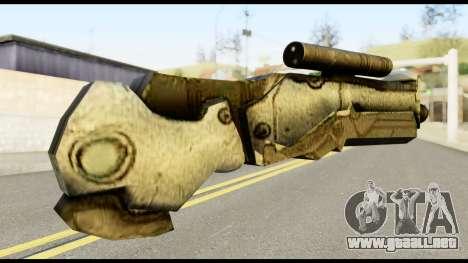 Plasmagun from Metal Gear Solid para GTA San Andreas segunda pantalla