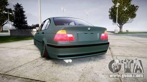 BMW E46 M3 2000 para GTA 4 Vista posterior izquierda