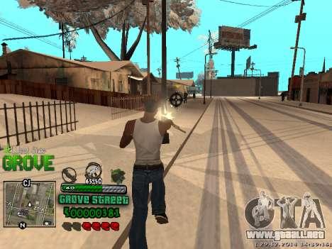 C-HUD Grove Street para GTA San Andreas décimo de pantalla