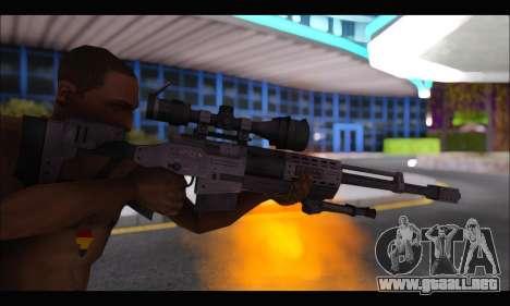 Raab KM50 Sniper Rifle From F.E.A.R. 2 para GTA San Andreas quinta pantalla