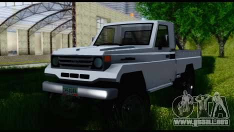 Toyota Land Cruiser Macho Pick-Up 2007 4.500 para la visión correcta GTA San Andreas