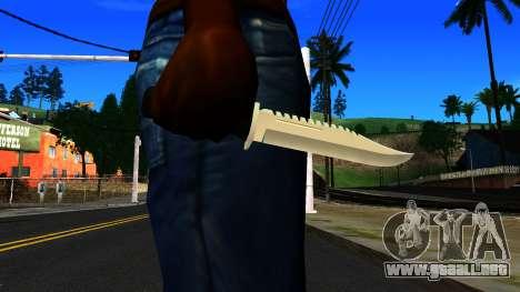 Knife from GTA 4 para GTA San Andreas tercera pantalla