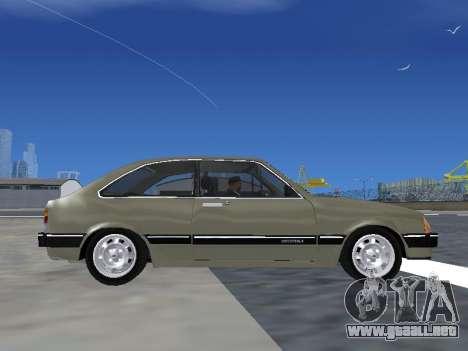 Chevrolet Chevette Hatch para GTA San Andreas vista hacia atrás
