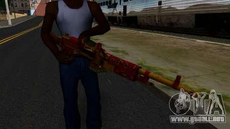 Navidad Ametralladora para GTA San Andreas tercera pantalla