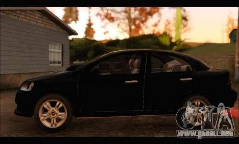 Chevrolet Aveo LT 2010 para GTA San Andreas vista posterior izquierda
