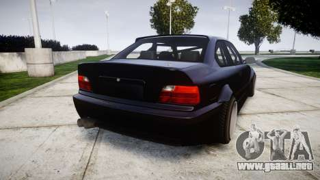 BMW E36 M3 Duck Edition para GTA 4 Vista posterior izquierda