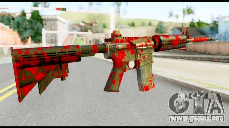 M4 with Blood para GTA San Andreas segunda pantalla
