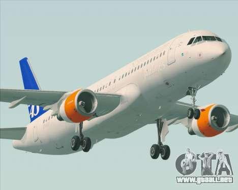 Airbus A320-200 Scandinavian Airlines - SAS para las ruedas de GTA San Andreas