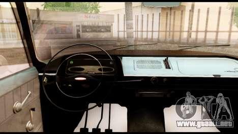 Moskvich 408 para GTA San Andreas vista hacia atrás