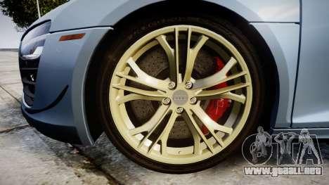 Audi R8 competition 2015 [EPM] para GTA 4 vista hacia atrás