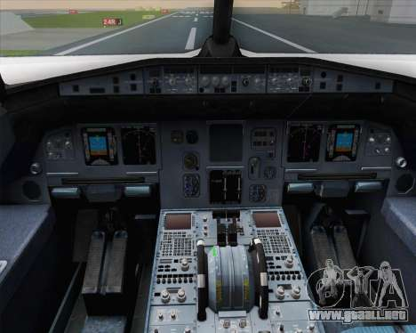Airbus A320-200 Air France Skyteam Livery para GTA San Andreas interior