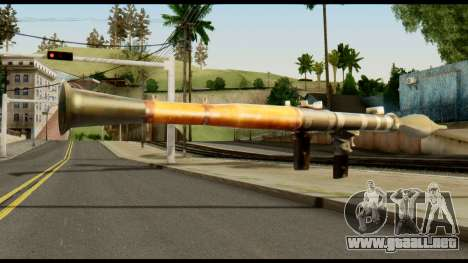 RPG7 from Metal Gear Solid para GTA San Andreas segunda pantalla