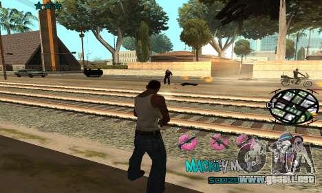 C-HUD Mickey Mouse para GTA San Andreas sucesivamente de pantalla