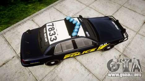 Ford Crown Victoria 2008 LCPD [ELS] para GTA 4 visión correcta