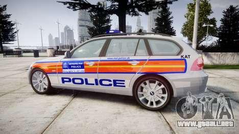BMW 325d E91 2010 Metropolitan Police [ELS] para GTA 4 left