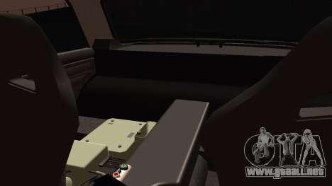 VAZ 2105 cookie monster para GTA San Andreas vista hacia atrás