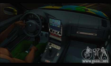 BMW M3 E36 Camo Style para GTA San Andreas vista posterior izquierda