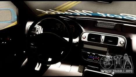 Honda Civic Hatcback O. B. Construcción para GTA San Andreas vista posterior izquierda