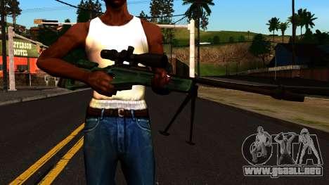 El SV-98 con un Bípode y Ámbito de aplicación para GTA San Andreas tercera pantalla