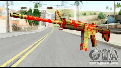 M4 with Blood para GTA San Andreas