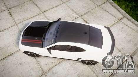 Chevrolet Camaro ZL1 2012 Redline para GTA 4 visión correcta