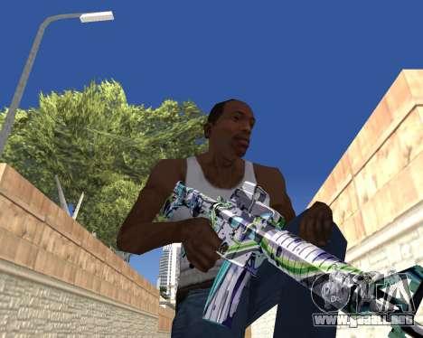 Graffity weapons para GTA San Andreas octavo de pantalla