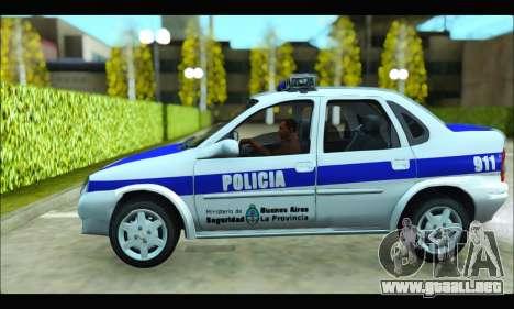 Chevrolet Corsa Policia Bonaerense para GTA San Andreas left