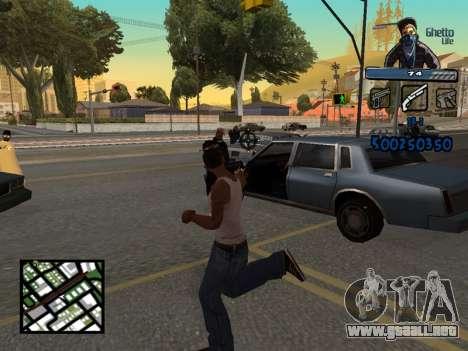 C-HUD Unique Ghetto para GTA San Andreas sucesivamente de pantalla
