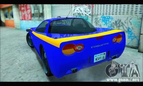 Coquette (GTA IV) para GTA San Andreas vista posterior izquierda