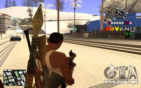 C-HUD Advance RP para GTA San Andreas tercera pantalla