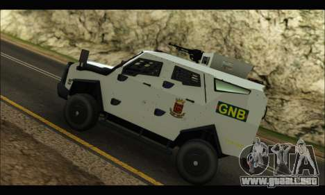 Oshkosh Sand Cat GNB para GTA San Andreas vista hacia atrás