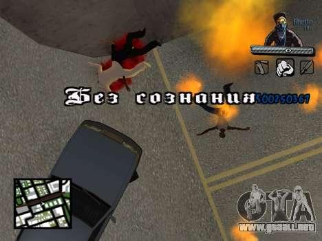 C-HUD Unique Ghetto para GTA San Andreas séptima pantalla
