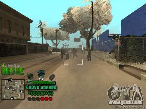 C-HUD Grove Street para GTA San Andreas sexta pantalla