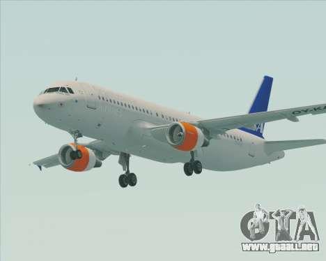 Airbus A320-200 Scandinavian Airlines - SAS para GTA San Andreas left