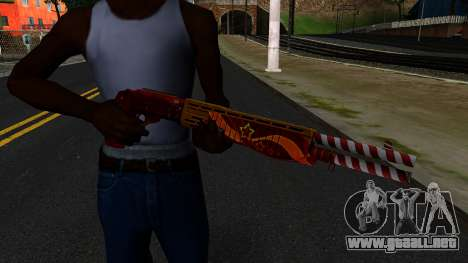 Navidad Escopeta De Combate para GTA San Andreas tercera pantalla