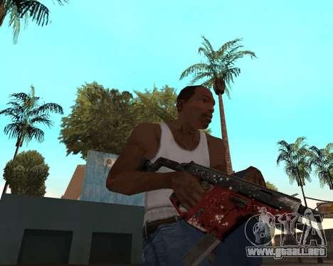 Año nuevo arma pack v2 para GTA San Andreas quinta pantalla