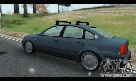 VW Passat para GTA San Andreas vista posterior izquierda