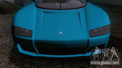 GTA V Overflod Entity XF v.2 para GTA San Andreas vista posterior izquierda
