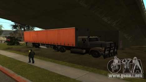 Transporte de tanque de remolque para GTA San Andreas tercera pantalla