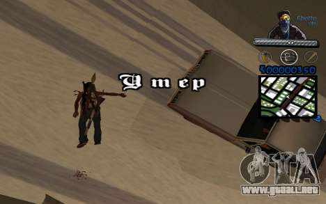 C-HUD Ghetto Life para GTA San Andreas sucesivamente de pantalla