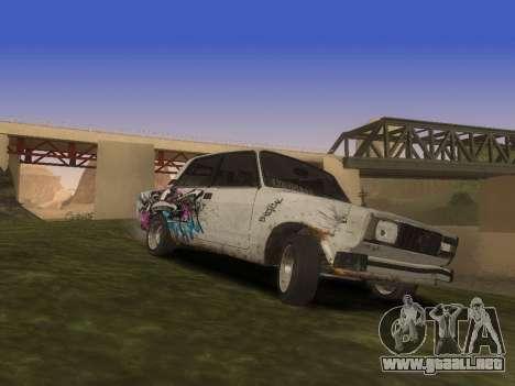 VAZ 2105 Rusty comedero para vista lateral GTA San Andreas
