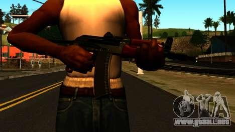 Oscuro AKS-74U v1 para GTA San Andreas tercera pantalla