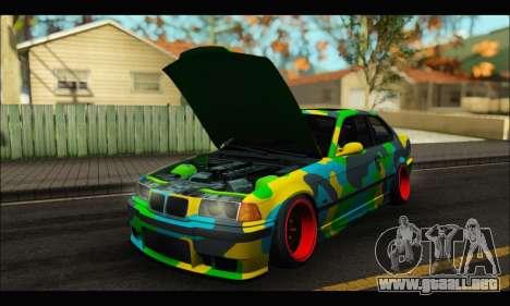 BMW M3 E36 Camo Style para la visión correcta GTA San Andreas